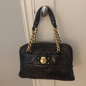 Marc Jacobs Ines  Quilted Black Leather Bag